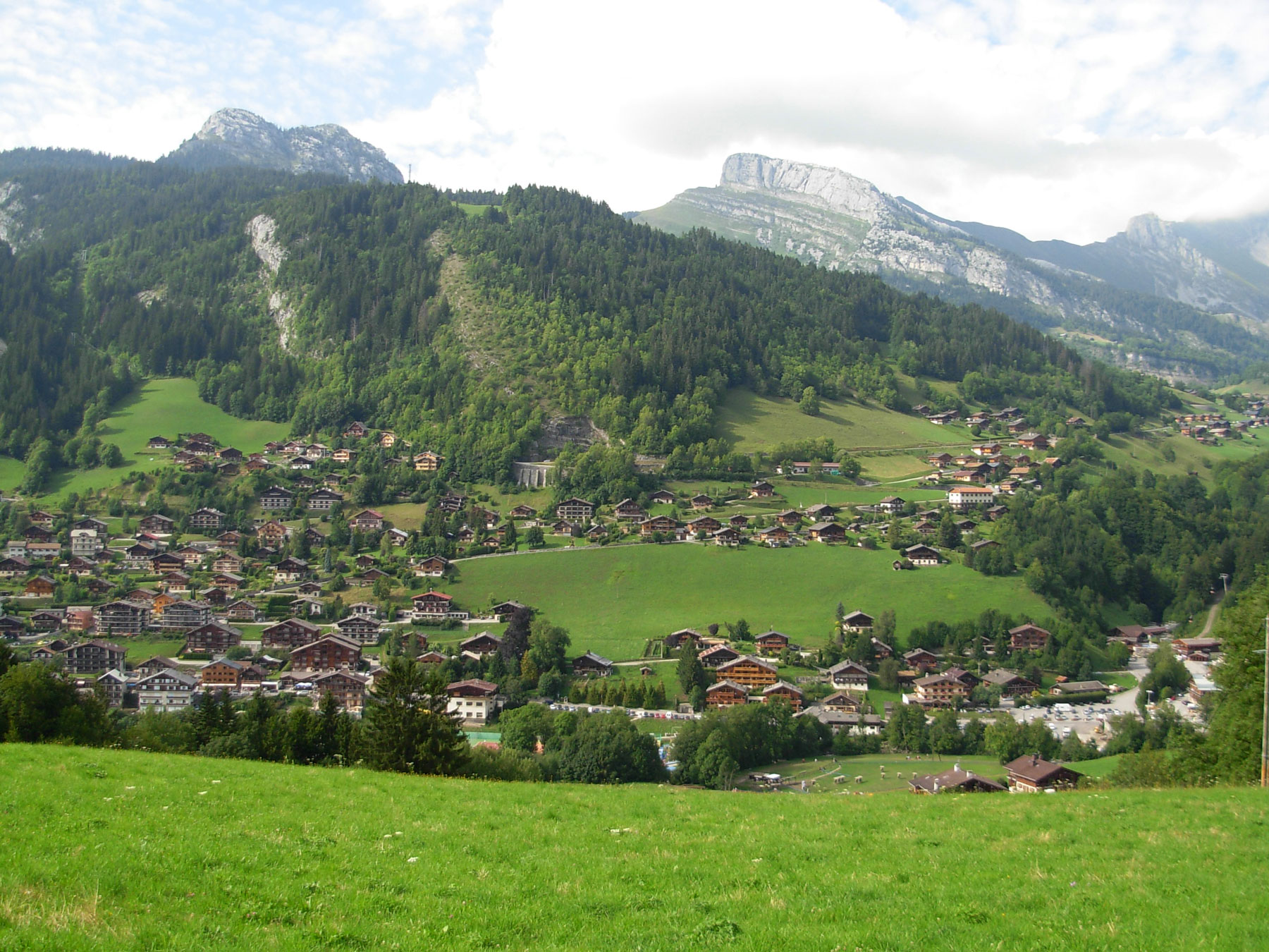 vue-grand-bornand-village